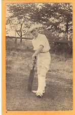 Real Photo Postcard RPPC - Man with Cricket Bat - Sports