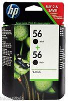 2x N º 56 Original OEM Cartuchos de inyección tinta Negro para HP Officejet