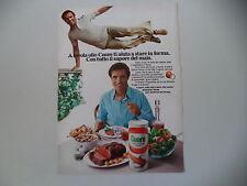 advertising Pubblicità 1980 OLIO CUORE e ENRICO MONTESANO