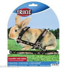 Trixie CARROT KILLER Harness with Lead for Rabbits Black