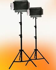2 x 500 Led Light Panel Video Photography Stands Kit