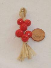 Ristra de tomates en fimo miniatura 1/12 casas muñecas