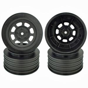 DE Racing Speedway Short Course Wheels +3mm Asscociated SC6.1 SC6.2 SC10 Black