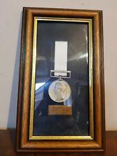 Mounted Framed Reproduction Medal Naval General Service Medal 1793-1840   (pt43)