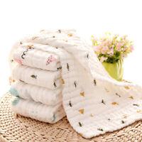 Baby Bath towel Muslin Burp Cotton Hand Washcloths 6 Layers Extra Absorbent Soft