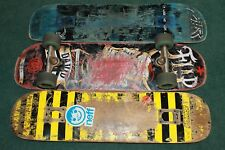 Vintage Skateboard Decks One With Wheels Trucks Thrashed Great Collectors / Art