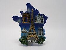 France Paris Fridge Magnet - Travel Souvenir Resin Magnet