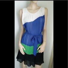 bebe Colorblock Pleated Dress NWT S $169