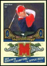 HUNTER MAHAN 2011 UD GOODWIN MEMORABILIA SHIRT JERSEY M-MH TOURNAMENT GAME USED
