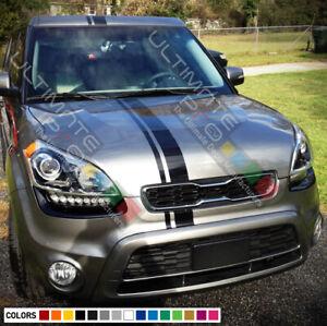 Stripe Body Kit Sticker Vinyl Decal for Kia Soul Sport Bonnet Front Light Visor