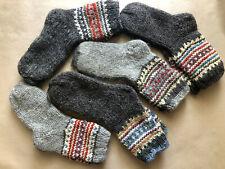 SHEEP WOOL MEN SOCKS. Hand Made 100% natural wool. HAND KNITTED GRAY MEN SOCKS
