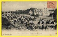 cpa Très RARE ANET Eure et Loir FÊTE du 11 Juin 1906 Place du CHÂTEAU Le Défilé