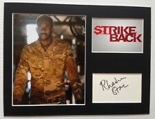 [A0791] Rhashan Stone Signed STRIKE BACK 12x16 Display AFTAL