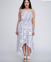 Lane Bryant Floral Chiffon Maxi Dress 14 16 18 20 22 24 26 28 Bloom 1x 2x 3x 4x
