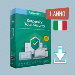 Kaspersky Total Security 2021 - Da 1 a 5 Dispositivi - 1 Anno ITA