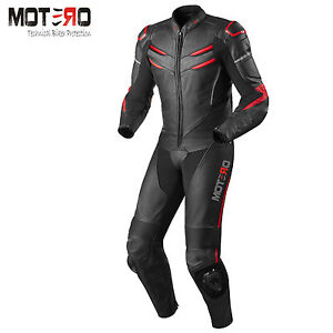 MOTERO's MOTORCYCLE MOTORBIKE ARMOUR PROTECTION RACING 1 PIECE LEATHER SUIT