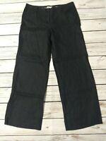 Monsoon Pure Linen Wide Leg Lightweight Trousers Size 14 S