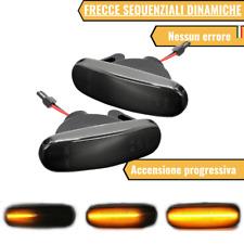 COPPIA FRECCE LATERALI NERE PROGRESSIVE A LED FIAT PANDA MK2 169 CANBUS OSCURATE