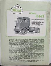 1955 Mack Truck Model H-62T Dealer Sales Brochure Folder COE Gas Features Specs