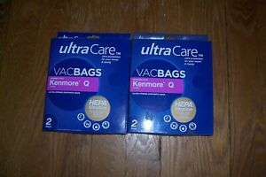 Kenmore Q Ultra Care Canister Vacuum Bags HEPA Cloth Filtration VACBAGS 2 boxes