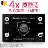 Blocker Karte RFID Schutz NFC Schutzkarte EC Karte Blockerkarte