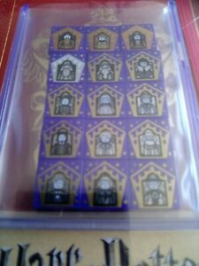 FULL SETS of Lego Harry Potter Anniversary Minifigures & Wizard Choc Frog Cards