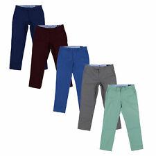 Polo Ralph Lauren para hombre Chino Pantalones Plano Frente Estirar Pantalones Chinos Calce Recto Nuevo