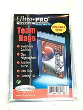 100 Ultra Pro TEAM SET BAGS Resealable Strip Trading Card Baseball UV 1 Pack-NEW