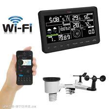 Funk Wifi Wetterstation mit Regen- und Windmesser App für Android und iOS Wetter