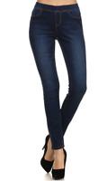 Womens Elastic Stretch Skinny  denim /Jegging Jeans Pull-on  Elastic Pant (S-L)