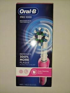 Oral-B Pro 1000 Electric Rechargable Toothbrush - Pink