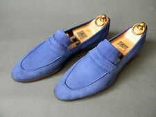 Kiton Napoli Blue Suede Unlined Loafers Mens Shoes 6.5UK 40.5EU 7.5US