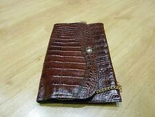 Fashion Faux Alligator Crocodile Vintage Handbag Purse Bag dark, red brown bag