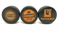 Vintage WHL JONES SIGNED KOHO Cooper Ice Hockey Puck Official Czechoslovakia