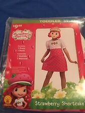 Halloween Costume Girls Toddlers Strawberry Shortcake Size 3T-4T