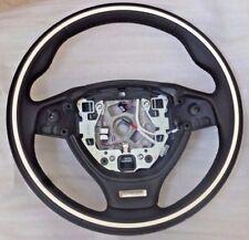 BMW OEM F06 F12 F13 F01 F02 6 & 7 Series Individual Line White Steering Wheel