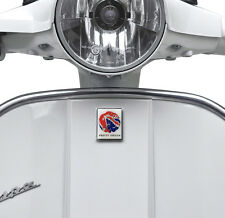 PRETTY GREEN GEL BADGE STICKER FOR HORN CAST COVER FITS VESPA LML DECAL SQ22