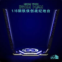 "Toy-Box 1/6 Iron Man Legacy Platform Stand Model LED Light for 12"" Figure Action"