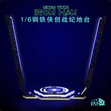 """Toy-Box 1/6 Iron Man Legacy Platform Stand Model LED Light for 12"""" Figure Action"""
