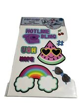 POP SHOP Mobile Accessory Stickers Large For Computer Phone Tablets Rainbow UGH