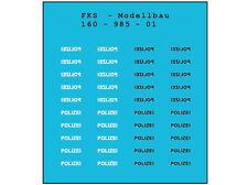 FKS 160-985-01 - Schriftzug POLIZEI - Spur N - NEU