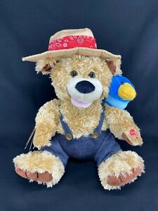 """CHANTILLY LANE Pete & Tweet Duet 12"""" Animated Bear Bird Sing """"Zip A Dee Doo Dah"""""""
