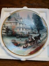 Thomas Kinkade A Carriage Ride Home Collectors Plate With Certificate Of Auth V1