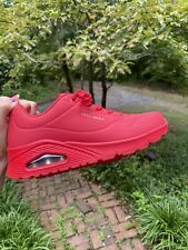Skechers Uno Stand on Air Sneakers Red Women Size 9