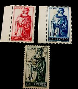 1948 Cabo Verde Stamps Set Of Rainha Santa Isbel Mnh/ Used
