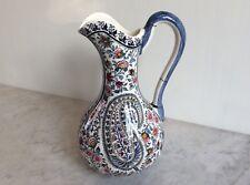 Pichet broc vase faïence gien cachemire vintage original 30/40 à voir 1 euro