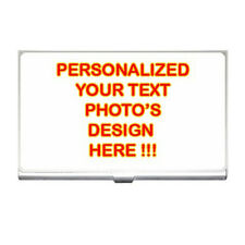 Personalized Custom Logo Design Photo Text Business Card Holder free Shipping