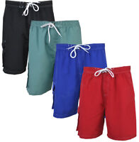Mens Cargo Swim Shorts Beach Contrast Summer Mesh Lined Holiday M-XXL