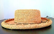 f0fb7be31738c SCALA COLLECTION Womens Sun Hat One Size Natural Fiber Rolled Brim Olive  Trim