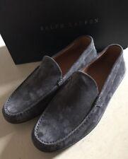 New $525 Men's Ralph Lauren Purple Label Suede Driver Shoes Gray 9 US ( 42 Eu )